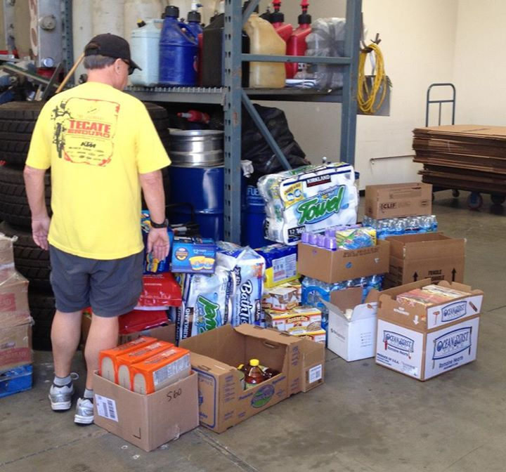 Los Ancianos MC donated $650 in relief supplies after the damaging effects of Hurricane Odile